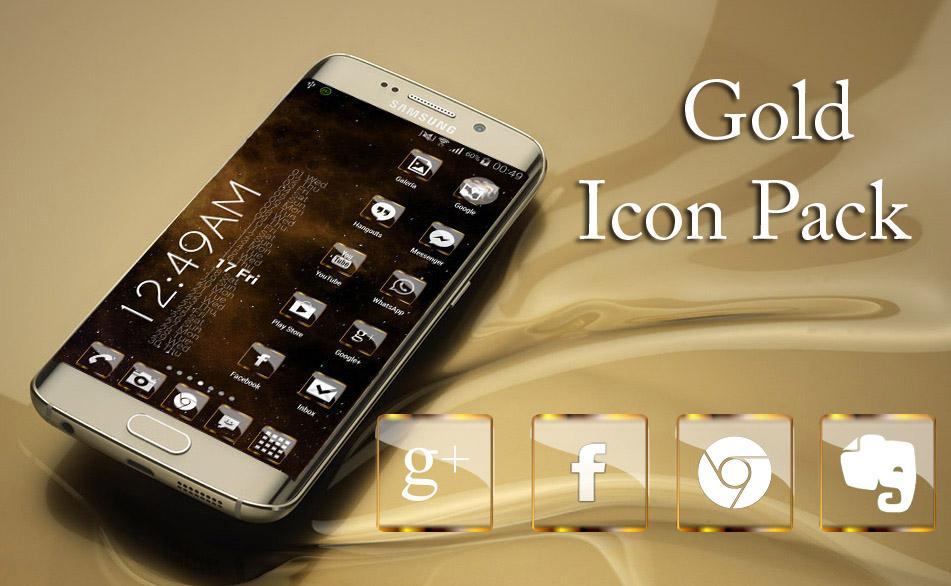 Golden Glass Icon Pack HD - screenshot