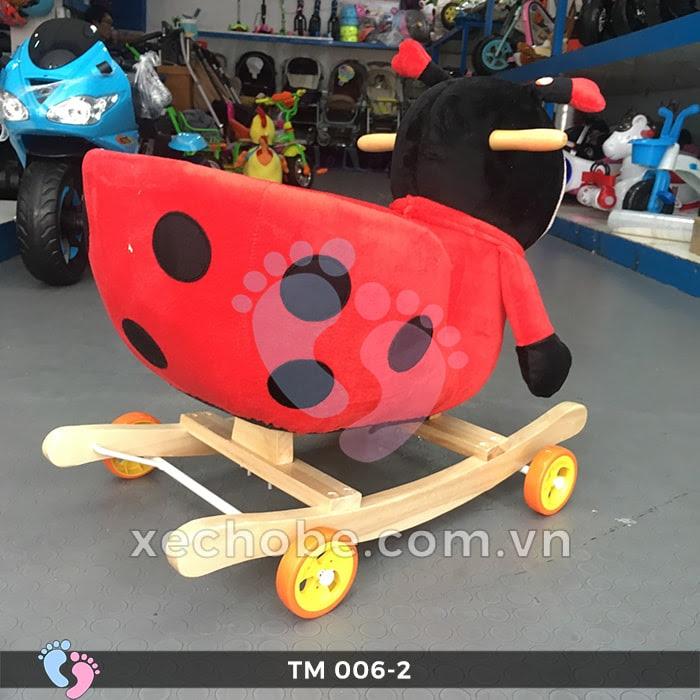 Thú bập bênh cho bé TM006-2 có bánh xe 8
