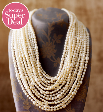 Photo: 4-9mm Multi-Row Pearl Necklace: http://bit.ly/O066HT