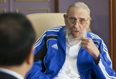 古巴強人卡斯楚逝世,圖攝於今年9月。(美聯社)