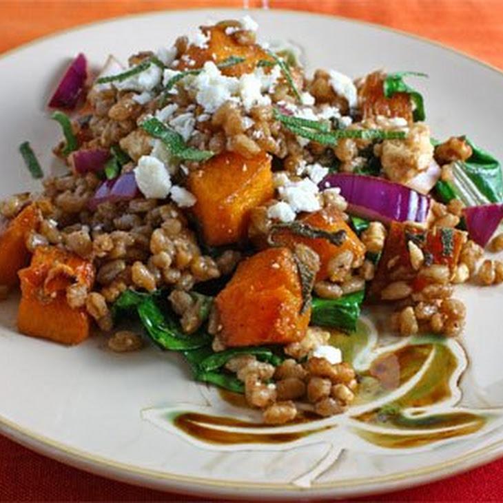 Roasted Butternut Squash Farro Salad Recipe