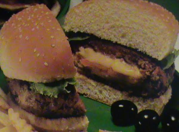 In This Picture I Used The Sesame Seed Buns..i Like The Onion Buns Way Better For The Stuffed Taco Burger.