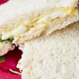 {Simple and Easy} Curried Egg Tea Sandwiches