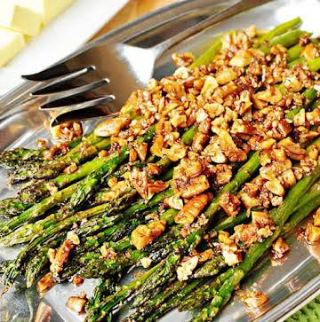 Roasted Pecan Asparagus