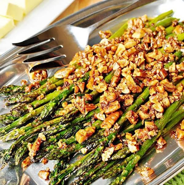 Roasted Pecan Asparagus Recipe