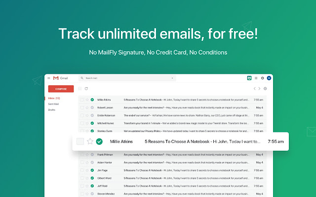 Free Gmail Email Tracking - MailFly