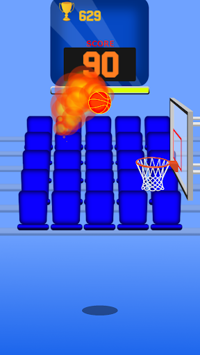 One Touch Dunk: Jeu de basket-ball d'arcade 2D  captures d'écran 1