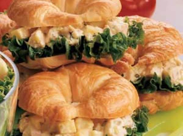 I Love Croissants And This Chicken Salad Sandwich Is Very Very Tasty With The Swiss Cheese!