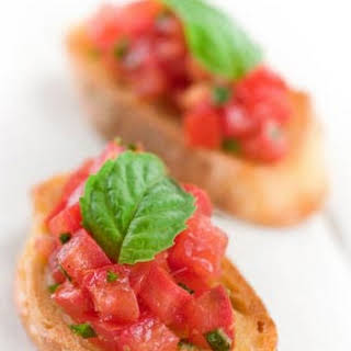Bruschetta with Tomato and Basil.