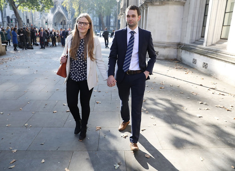 Daniel and Amy McArthur, who own Ashers Bakery in Belfast, leave the Supreme Court in London, Britain, October 10 2018. Picture: REUTERS/SIMON DAWSON