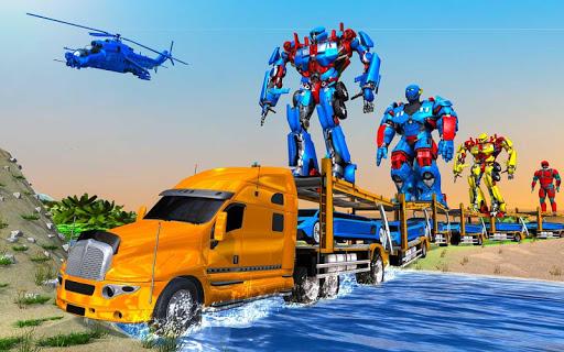 US Police Train Transporter Truck Robot Stunt Game 1.4 screenshots 12