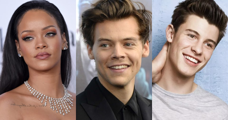 rihanna harry style shawn mendes bts