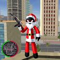 Santa Claus Stickman Rope Hero Gangstar Crime icon