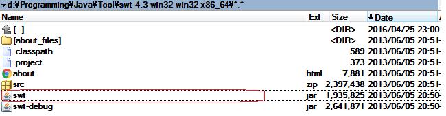 Chỉ định đường dẫn tới file swt.jar