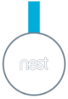Nest secure tag front angle image.