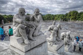 Photo: Vigeland-Skulpturenpark -Monolitten - in Oslo (HDR)