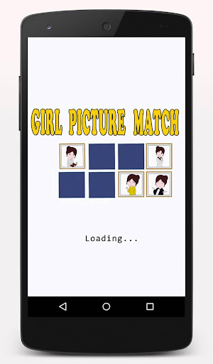 Girl Picture Match Game.