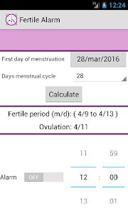 Fertile Alarm screenshot 2