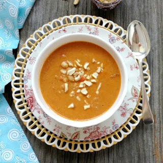 Peanut Butter and Chickpea Soup