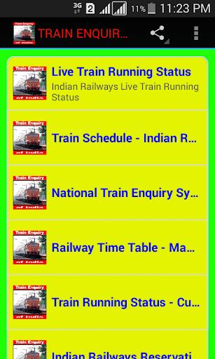 TRAIN ENQUIRY OF INDIA