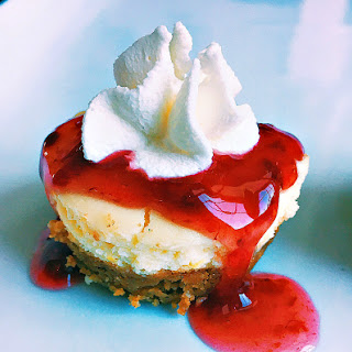 Mini Chambord Cheesecakes With Cookie Crust.