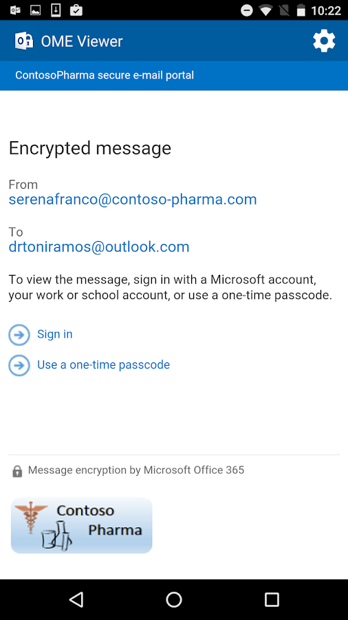 O365 Message Encryption Viewer- screenshot