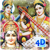 4D Saraswati Live Wallpaper