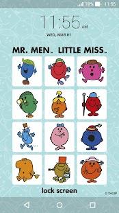 Mr. Men Little Miss LockScreen - náhled