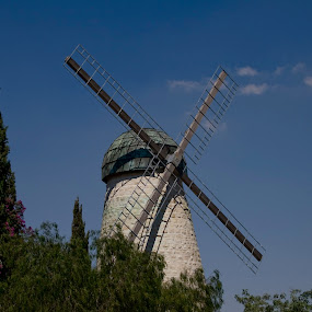 Windmill by Yeshaya Dinerstein - Buildings & Architecture Public & Historical ( jerusalem - windmill - history - mill - tourism - architecture - tower - travel )