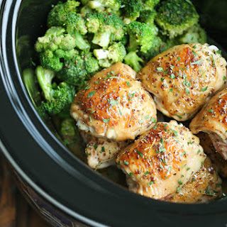 Slow Cooker Maple Dijon Chicken and Broccoli