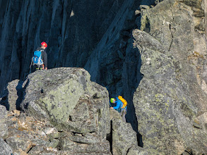 Photo: Over the edge to Stetind.