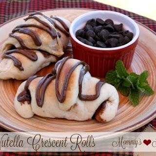 Nutella Marshmallow Crescent Rolls