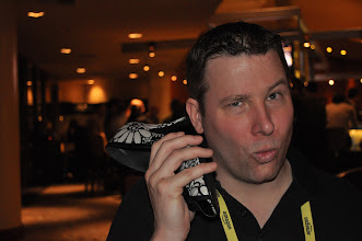 Photo: Shoe phone at EclipseCon 2011