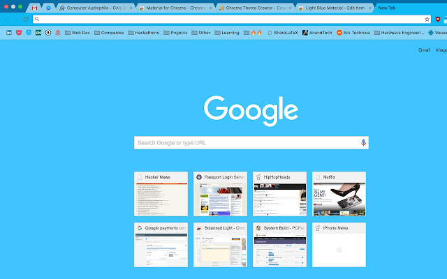 Google Chrome Themes Creator