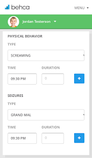 BEHCA Behavior Tracker - náhled