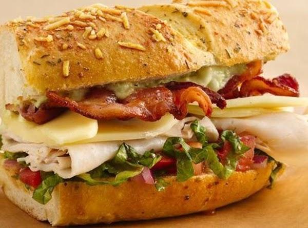 Turkey Club Sandwich Ring With Avocado Aioli Recipe