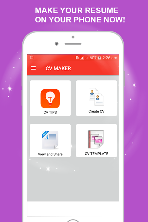 cv maker cv creater and resume maker screenshot