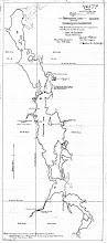Photo: 1926 survey by L.V. Rourke before new concrete dam built (MNR)