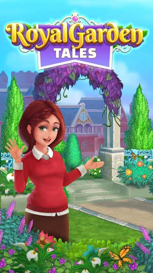 Screenshot 1 Royal Garden Tales - Match 3 Castle Decoration 0.7.7 APK MOD