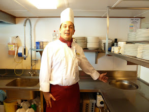 Photo: The head chef - we took a tour of the galley.