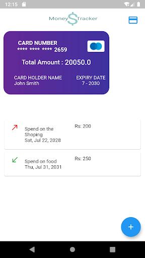 Money Tracker screenshot 1