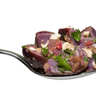 Marinated Purple Potatoes.
