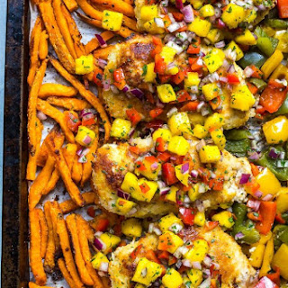 Sheet Pan Coconut Crusted Chicken.