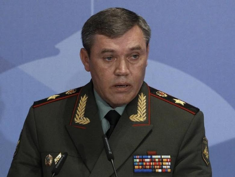 Russian armed forces Chief-of-Staff Valery Gerasimov delivers a speech during a conference. Picture: REUTERS