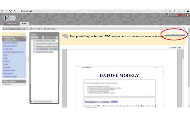 UHK Oliva bb - otevření PDF v novém panelu