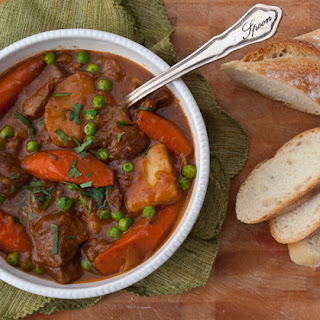 Guinness Lamb Stew with Vegetables.