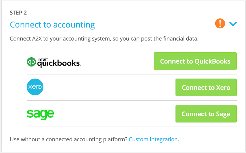 Connect to accounting software
