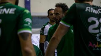 Manolo Berenguel en el partido contra Graz.