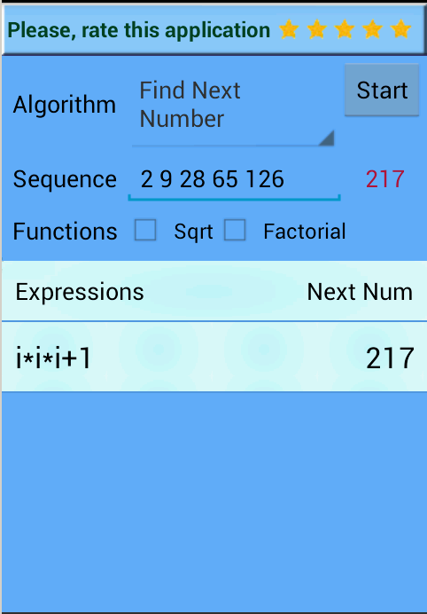 Number Series Calculator- screenshot