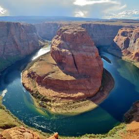 Horseshoe bend by Chris Bertenshaw - Landscapes Waterscapes ( colorado river, desert, horseshoe bend, river,  )